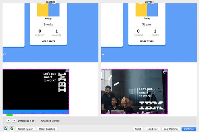 Screen comparison example 2