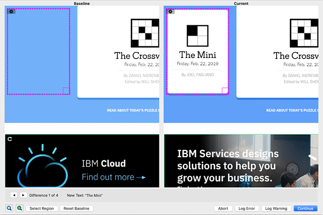 Screen comparison example 3